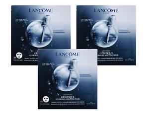 3 LANCOME ADVANCED GENIFIQUE HYDROGEL MELTING FACE MASK 0.98 oz  / 28g each