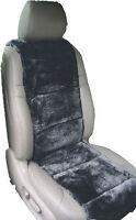 LUXURIOUS Australian Sheepskin Charcoal color Insert Seat Cover A Pair