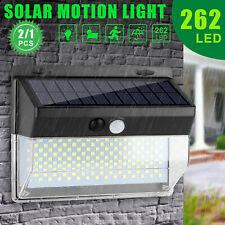 262 LED Solar Powered Lights Outdoor PIR Motion Sensor Garden Security Wall Lamp
