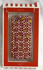 Coach iPhone 5 case Cover NIB Case RED gold White C Signature Heart Confetti TPU