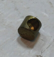 "THROTTLE / BRAKE CABLE BRASS FERRULE NEW OLD STOCK .260"" LONG .280"" DIA"