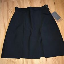 ALEXANDER McQUEEN BLACK WOOL MINI SPLIT SKIRT UK 10 IT 42 US 6 BNWT