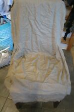 Pottery Barn Megan Dining Chair slipcover arm side chair linen Khaki New wo tag