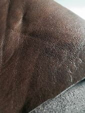 REED TANNERY LEATHER HIDES - COW SKINS ANTIQUE BROWN COLOR 12 X 24 Inches 2 S...