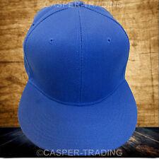 Snapback Baseball Plain Cap Funky Hip Hop SP Retro Classic Vintage Flat Hat Lot Blue 5x