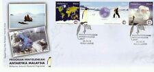 Malaysia Antarctic Research Programme 2012 Penguin Bird Fauna Earth (stamp FDC)