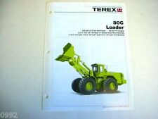 Terex 80C Wheel Loader Literature Piece