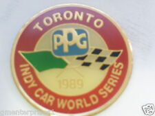 1989 Car World Series Toronto Race track Indy PPG Racing Pin , Vintage