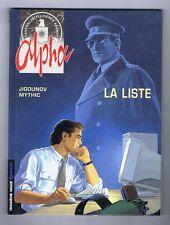 ALPHA 4. La Liste. mars 1999. JIGOUNOV. EO. Neuf