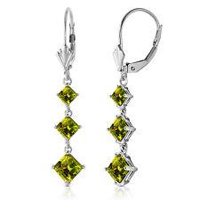 4.79 CTW 14K Solid White Gold Chandelier Earrings Peridot