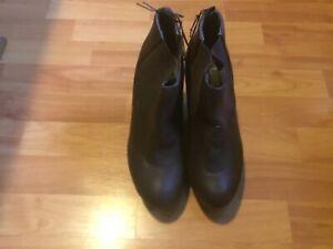 1x damen boots wedges braun gr.40/41 neu von primark