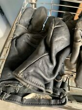 Authentic US Military Leather Gloves Genuine Cowhide Leather Duty Work Size 4