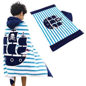Children's Beach Bath Towel with Hood Children's Poncho Bath Robe Hooded Towel A