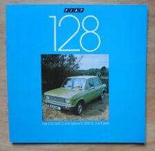 Fiat 128 gamme 1300 orig 1978-79 uk marketing ventes brochure