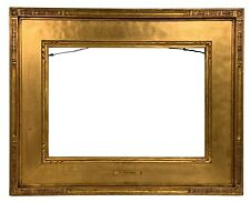 "American ARTS & CRAFTS Carved Gilt PICTURE FRAME 10""x14"" Newcomb Macklin Style"