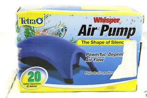 Tetra Aquarium Quiet Whisper Air Pump for Up To 20 Gallons Unused Open Box