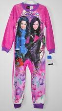 Disney Descendants pajamas girls size 4/5 one piece non-footed sleeper mal evie