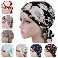 Women Indian Stretchy Chemo Pleated Turban Hat Head Wrap Hijab Cap For Wholesale