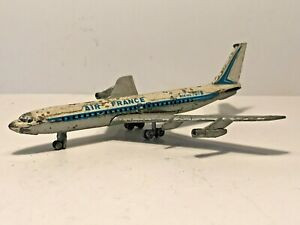 Vintage LINTOY AIR FRANCE BOEING 707B Aircraft Model Toy - Spares Parts Restore!