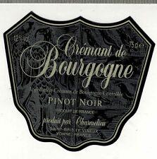 Etiquette de Vin  - Cremant De Bourgogne - Pinot Noir - New - Réf.n°256