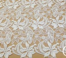 """Stunning Guipure Embroidery Wedding Lace Fabric 39"""" Wide for Bridal Dress1/2Yard"""