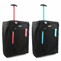 Lightweight Wheeled Cabin Hand Luggage Bag Case Trolly Holdall Flight Suitcase