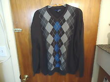 Mens Basic Edition XL Multi Color Long Sleeve Sweatshirt With Design In Center