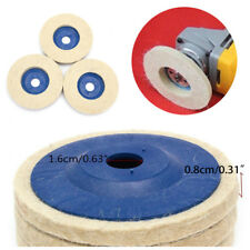 "3Pcs 4"" Wool Polishing Pads Buffing Angle Grinder Wheel Felt Polishing Disc Set"