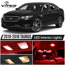 2010-2018 Ford Taurus Red Interior LED Lights Package Kit + License Lights
