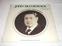 "John McCormack ""A Legendary Performer"" 1977 Irish Folk LP, SEALED!, +Booklet"
