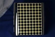 Colibri Silver & Checker Flag Checker Board Design Cigarette Case