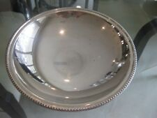 """Vintage Chiaravalli 800 Silver 7 3/4"""" Footed Compote with Design Trim"""