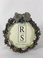 Lovely Round Grape-Motif Jeweled Ross-Simons Standing Decorator Picture Frame
