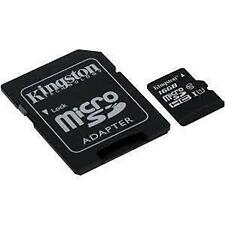 Kingston 16GB Micro SD SDHC 80mbps Class 10 TF Memory Card for Samsung Tablet