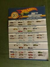 Rare 2018 HOT WHEELS 50TH Aniversary Collection Check List   Free Shipment