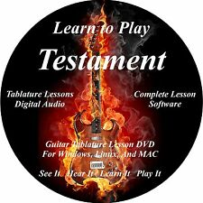Testament Guitar TAB Lesson CD 90 Songs + Backing Tracks + BONUS!!