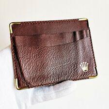portafogli ROLEX porta carte documenti card case wallet portafoglio gold brown