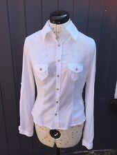 Ladies DIESEL white Linen Shirt. Size Small.
