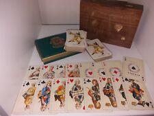 PIATNIK WIEN VINTAGE PLAYING CARDS MADE IN AUSTRIA NR127 & WOODEN CARD BOX.