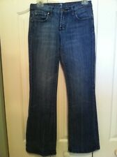 7 For All Mankind Jeans Women's Juniors  26x30 Low Rise Boot Cut Denim
