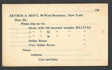 Ca 1909 PC ARTHUR S HOYT NYC, JELLITAC NO CHEMICAL PASTE FOR WALLPAPER UNPOSTED