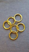 1 Inch Brass Plated O Rings - Great for Horse Halters, Sports Gear & More
