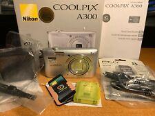 Nikon COOLPIX A300 20.1MP Digital Camera + Box + SD Card