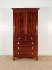BAKER Furniture Company 18th Century Collection Mahogany Linen Press Armoire