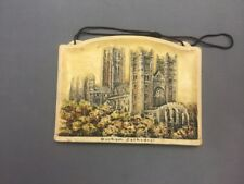 Durham Cathedral 4½x3¼  Arthur Osborne Ivorex Wall Plaque