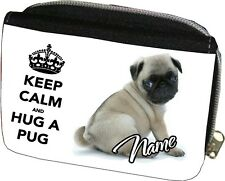 Cute Fawn Pug Purse Can be Personalised Great Gift for Christmas / Birthdays