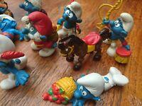 Sammlung Schlümpfe Schleich Peyo Bully Pferd Dompteur Matrose Baby Kartenspieler