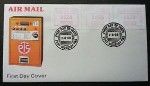 Papua New Guinea ATM BOROKO 1990 (Frama Label stamp FDC) *rare