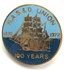 More details for trade union badge nasd nasdu stevedores dockers blue union centenary dockworkers