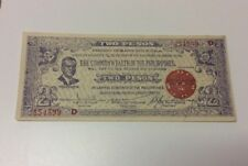 Lot Of 99 Philippines Two Pesos Emergency Notes--1942 -- Sequential Serial #s